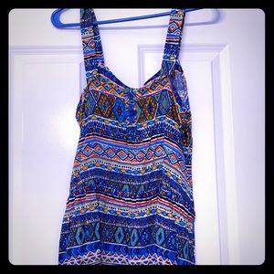 Mid thigh dress multi color